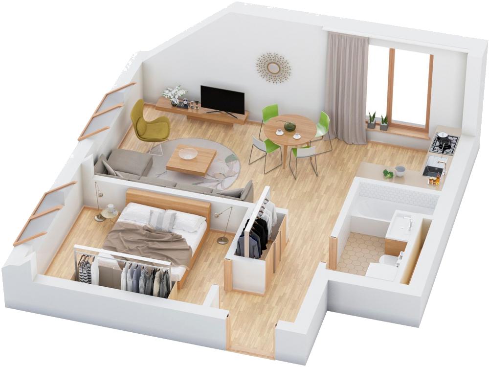 Дизайн-проект квартиры бесплатно при заказе ремонта «под ключ»!